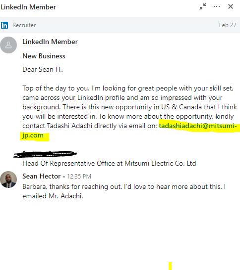 Sophisticated Linkedin Job Offer Scam – Digging Deeper